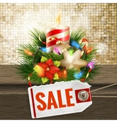 Christmas sale on gold background EPS 10 vector image vector image