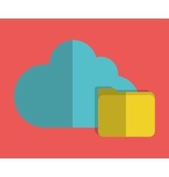Cloud computing design file icon graphic vector