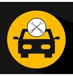 Concept repair car tools icons vector
