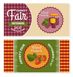 County fair vintage invitation cards vector image vector image