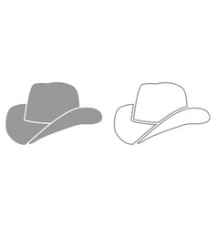 cowboy hat it is black icon vector image vector image