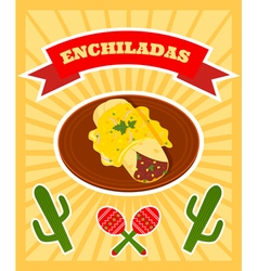 enchiladas poster vector image vector image