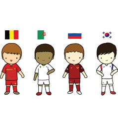 FIFA 2014 Football Players Group H vector image