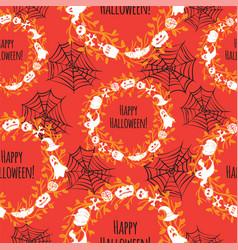 happy halloween seamless background vector image vector image