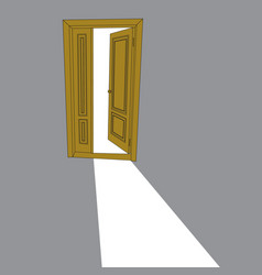 image of the open door vector image