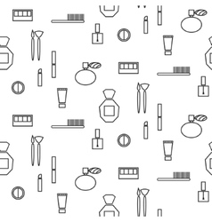 Makeup objects and products seamless pattern vector