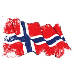 Norway flag grunge vector