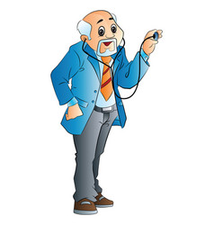 Old male doctor vector