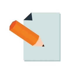 paper pencil icon design vector image