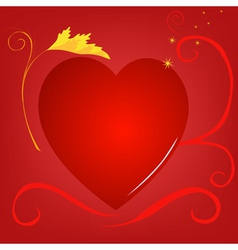 red heart background gold vector image