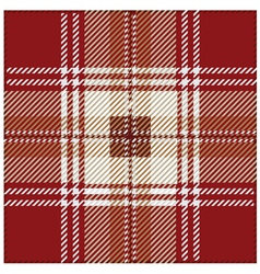 Red seamless tartan plaid pattern design vector