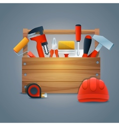 Repair construction toolbox vector image