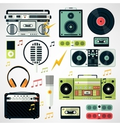 Set of music and sound icons various music vector image