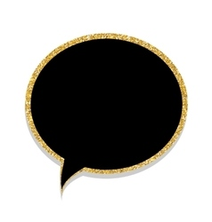Speech bubble gold glossy background vector