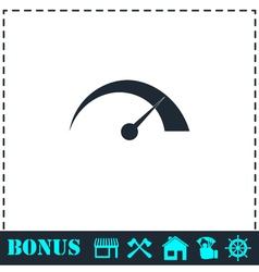 Speed icon flat vector