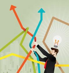 Stock market concept vector