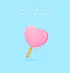sweet valentine vector image vector image