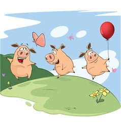 The three little pigs vector