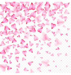 valentines day romantic background of hearts vector image