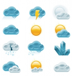 weather forecast icons day vector image
