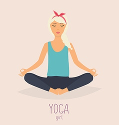 Woman in poses of yoga Healthy lifestyle vector image vector image