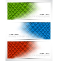 Set of abstract tech banners vector