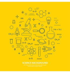 Science icon background vector