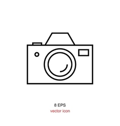 Foto camera simple icon vector