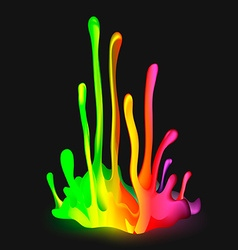 Colorful drop paint splatter background vector