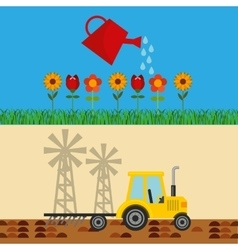 Agriculture production concept icon vector