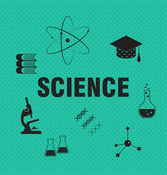 Science and chemistry related background vector