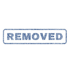 Removed textile stamp vector