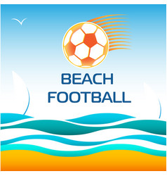 Beach soccer football vector