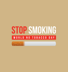collection of no tobacco day style background vector image