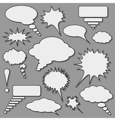 Speech bubbles set vector