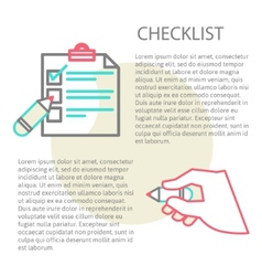 Line of a checklist vector