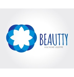 Abstract flower logo template for branding vector