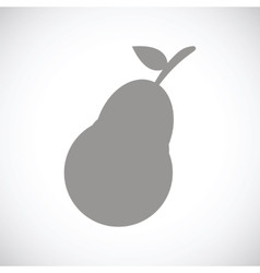 Pear black icon vector