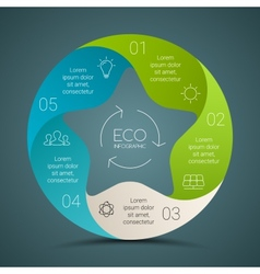 circle eco infographics set Ecology vector image