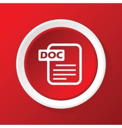 Doc file icon on red vector