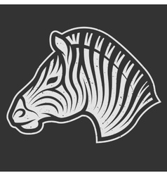 Zebra symbol for dark background vector
