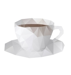 cup low poly vector image