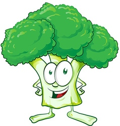Fun broccoli cartoon vector