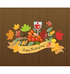 Happy thanksgiving day logotype badge and icon vector