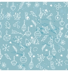 Seamless light blue pattern with traditional vector