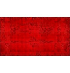 Red abstract mosaic background vector