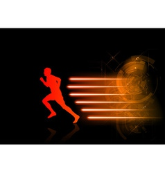 Runner modern background vector