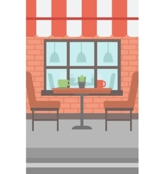 Background of street cafe vector