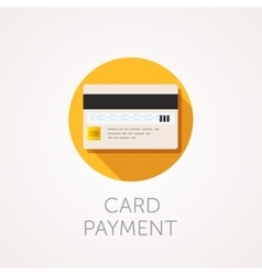 Credit cards icon reverse side of the bank vector