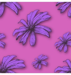 background with hand drawn flowers vector image vector image
